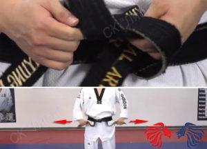 как завязывать пояс на кимоно тхэквондо