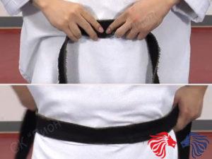 как завязать пояс на кимоно ребенку